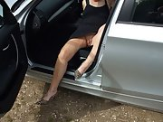 Mature wife loves to wear short skirts that reveal her pussy