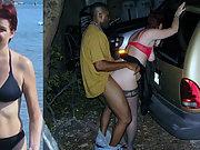 Redhead italian slut wife fucks bbc while cuckold hubby watches