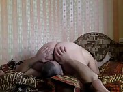 Big beautiful woman and her mature husband make amateur sex tape