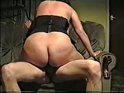 Big mature momma with large tits sucks and rides hard tool on couch
