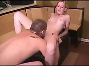 Amateur golden haired chick gets licked and rammed by her boy