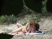 Couple filmed in secret from the bushes by a dirty pervert voyeur