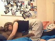 White girl gets a chance to try some hard black rod in bedroom