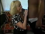 Sexy honey gives a great sucking session to her black lover