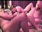 Cuckold chubby brunette wife with massive tits enjoys black dick