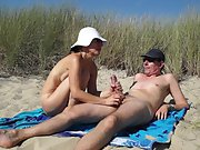 Kutasia is blowing a huge dick in the Polish dunes