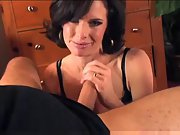 Married beautiful dark haired woman gives outstanding bj in pov