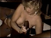 Busty tanned babe gets her hands on a big black dick